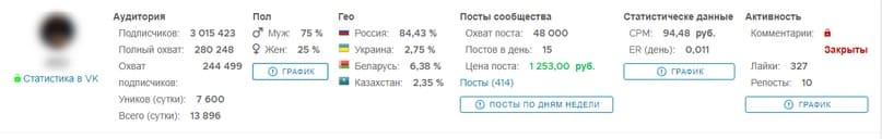 В поле выдачи результатов появится нужная группа ВКонтакте.